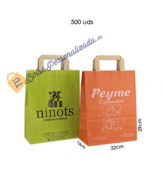 Bolsas de papel asa plana Pack050