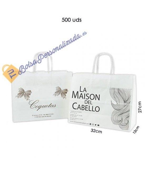 Bolsas de papel asa rígida Pack007