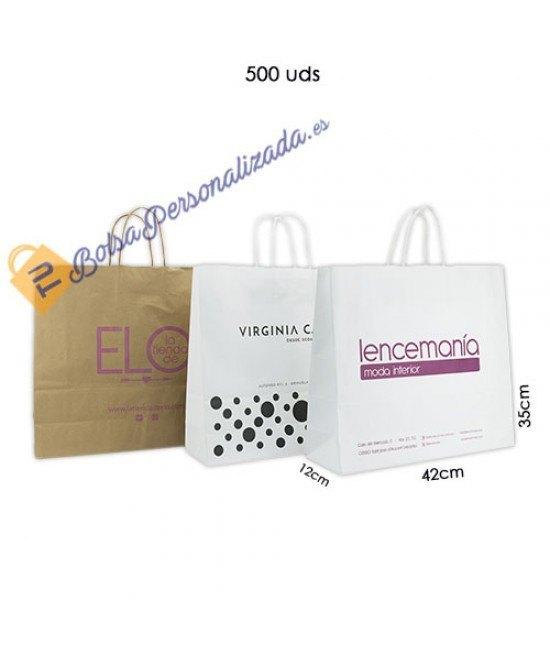 Bolsas de papel asa rígida Pack008