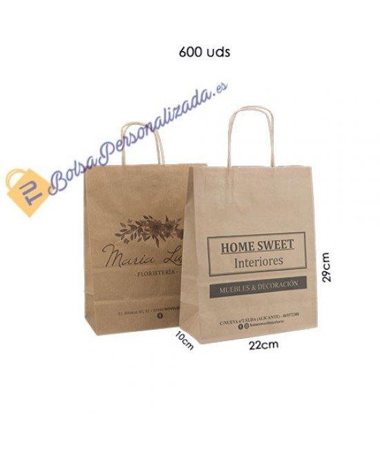 Bolsas de papel asa rígida Pack010