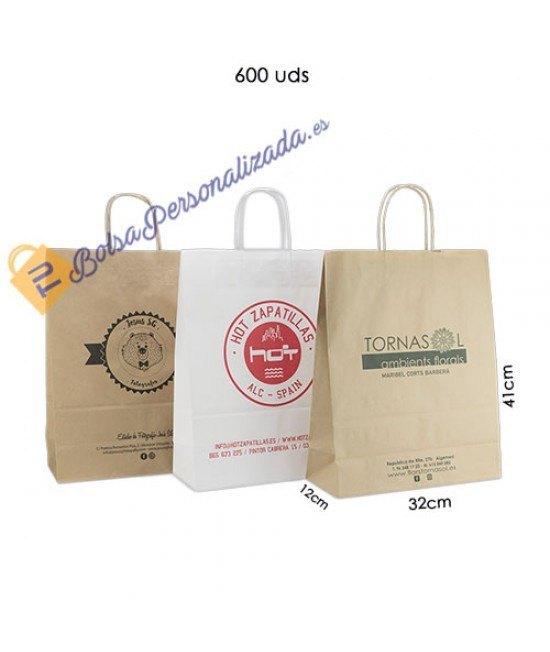 Bolsas de papel asa rígida Pack014