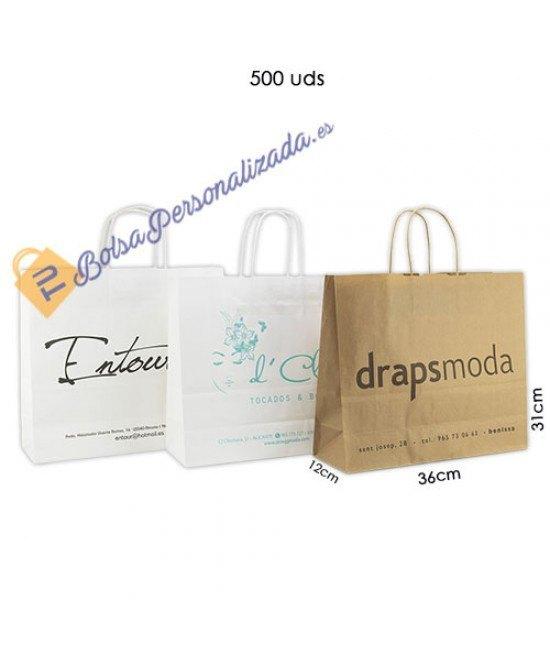 Bolsas de papel asa rígida Pack015