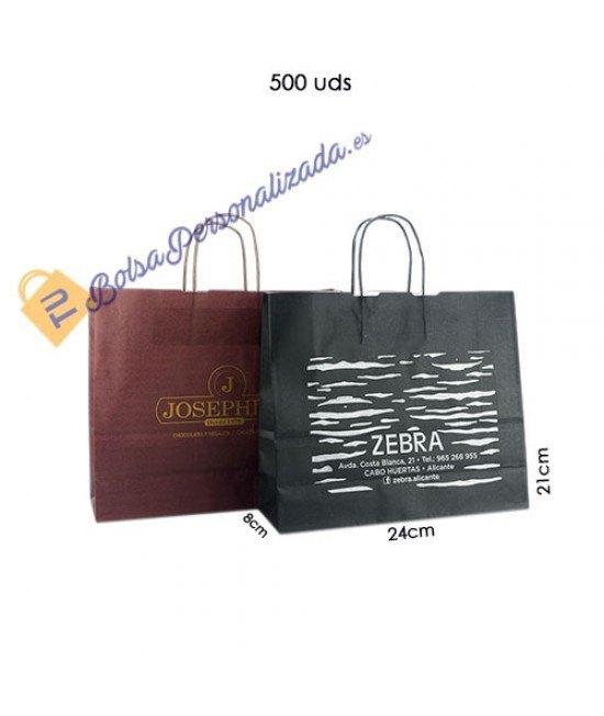 Bolsas de papel asa rígida Pack022