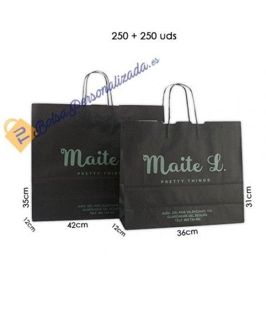 Bolsas de papel asa rígida Pack023