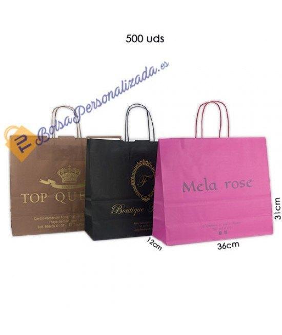 Bolsas de papel asa rígida Pack024