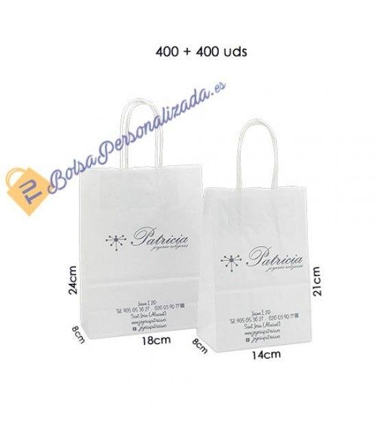 Bolsas de papel asa rígida Pack027