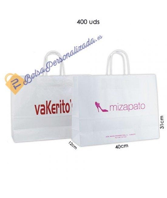 Bolsas de papel asa rígida Pack035