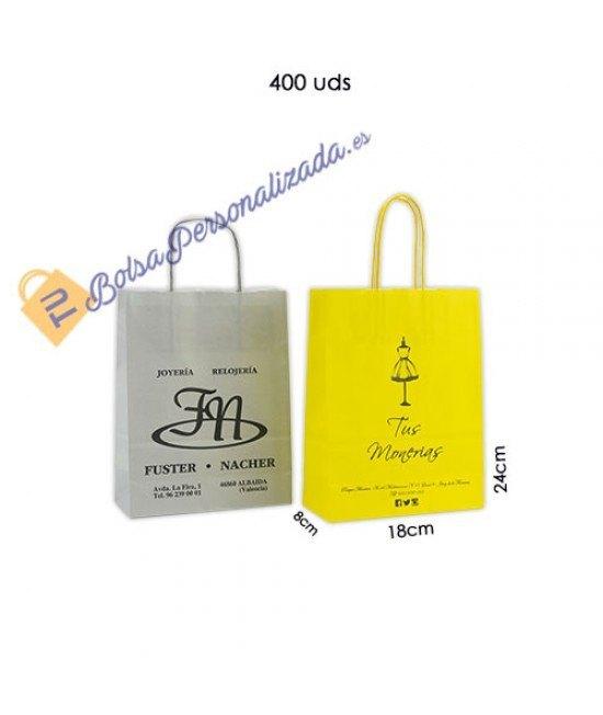 Bolsas de papel asa rígida Pack063