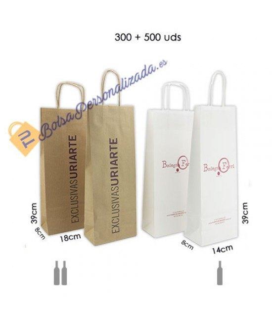 Bolsas botellas de vino Pack080