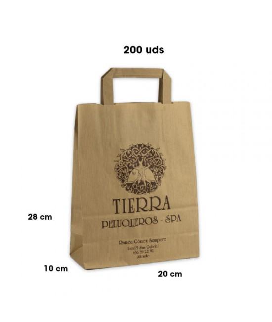 Bolsas de papel asa plana personalizadas Pack251