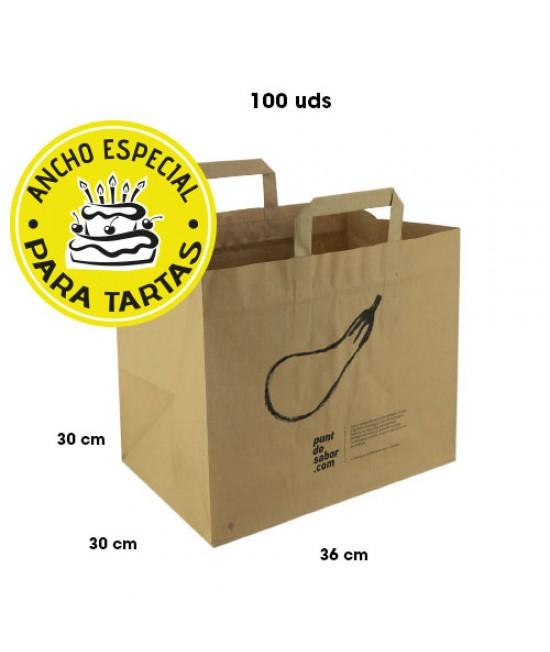 Bolsas de papel asa plana personalizadas TAKE AWAY Pack272