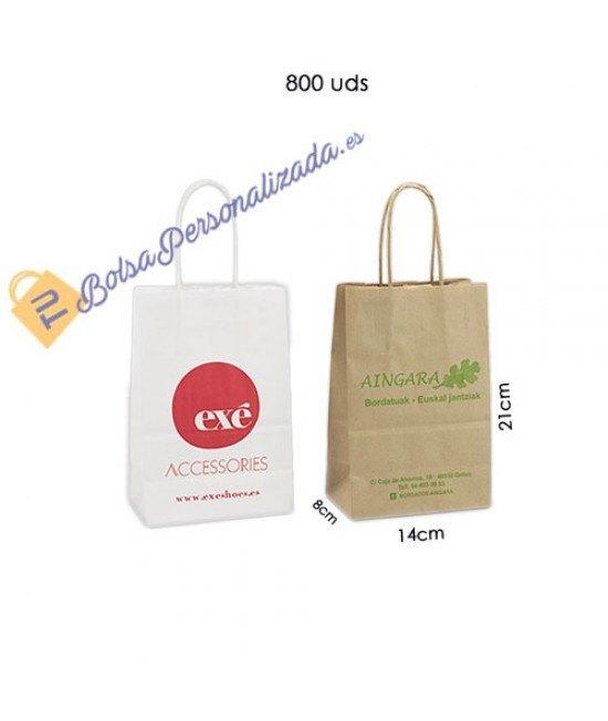 Bolsas de papel asa rígida Pack009