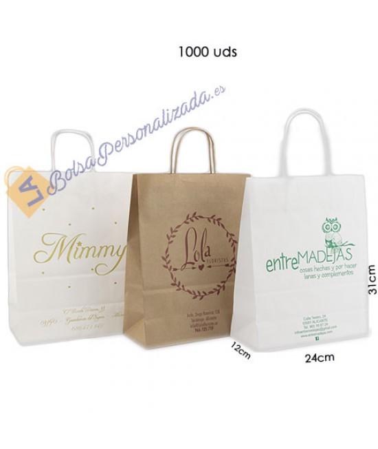 Bolsas de papel asa rígida Pack003