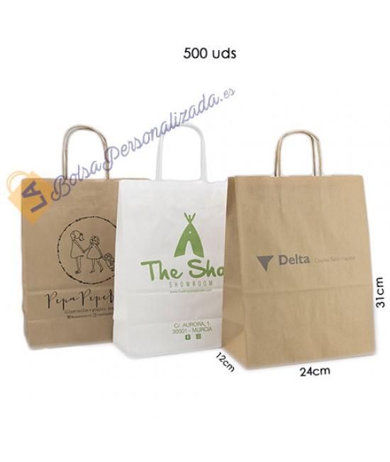 Bolsas de papel asa rígida Pack013
