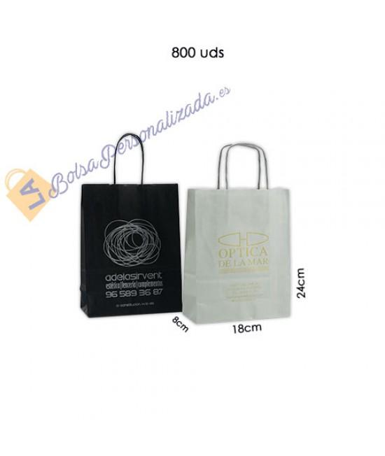 Bolsas de papel asa rígida Pack017