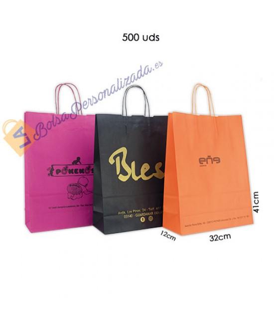 Bolsas de papel asa rígida Pack020