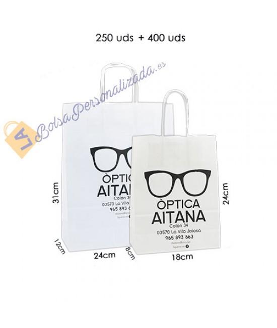 Bolsas de papel asa rígida Pack029