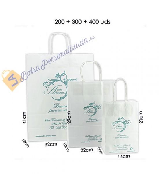 Bolsas de papel asa rígida Pack033