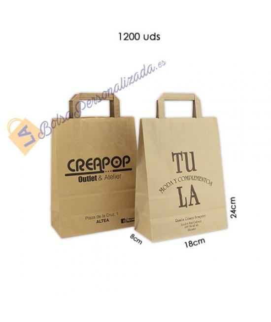 Bolsas de papel asa plana Pack037