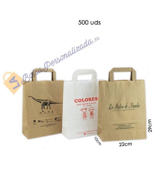 Bolsas de papel asa plana Pack038