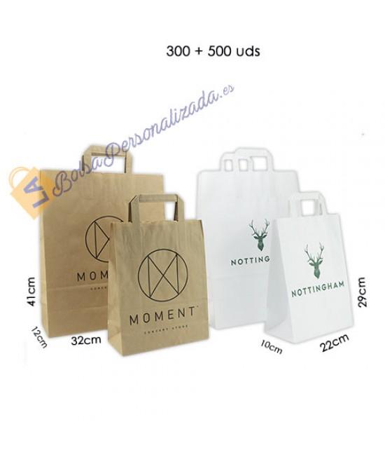 Bolsas de papel asa plana Pack042