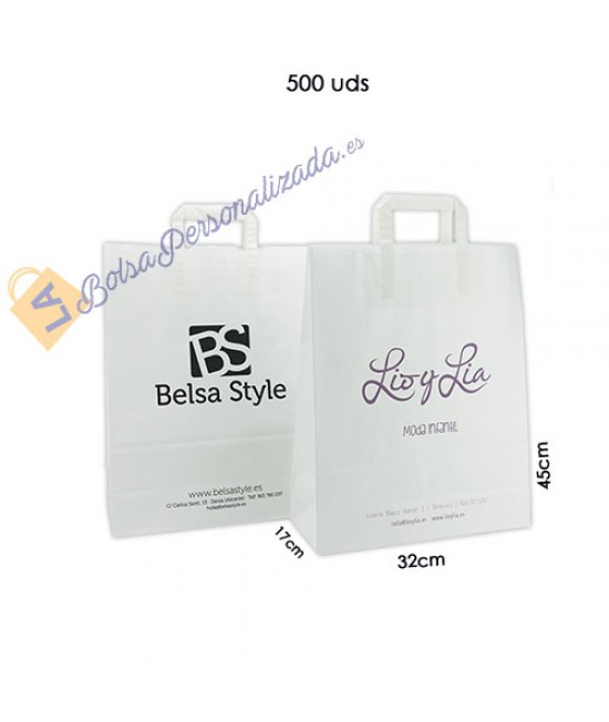 Bolsas de papel asa plana Pack043