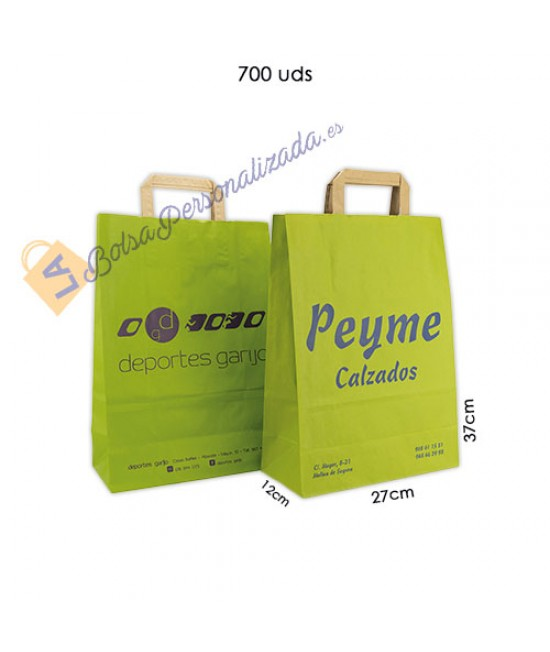 Bolsas de papel asa plana Pack051