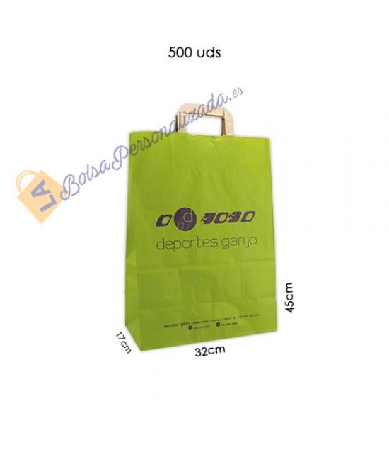Bolsas de papel asa plana Pack052