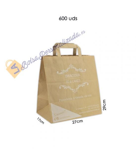 Bolsas de papel asa plana Pack058