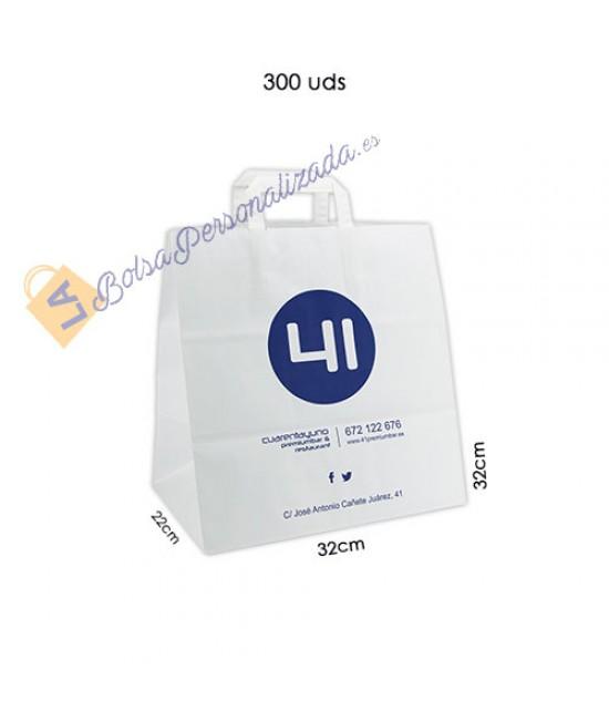 Bolsas de papel asa plana Pack061