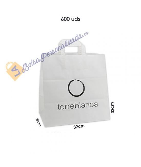 Bolsas de papel asa plana Pack062