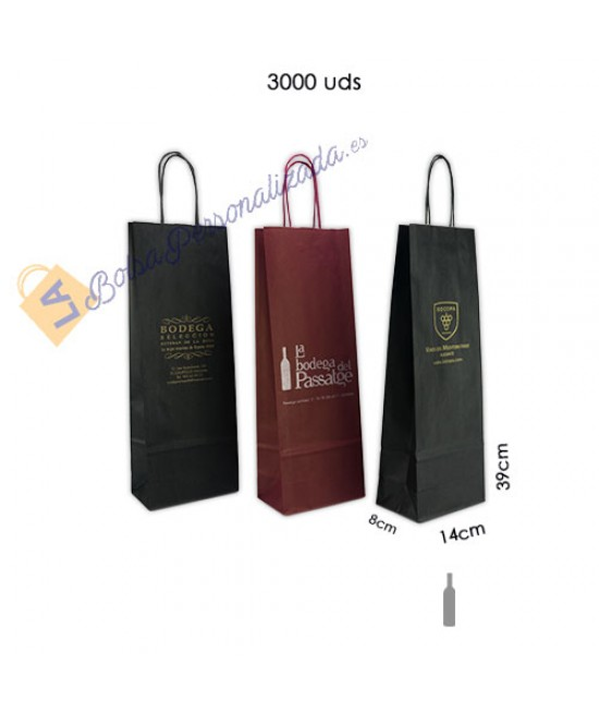Bolsas botellas de vino personalizadas Pack078