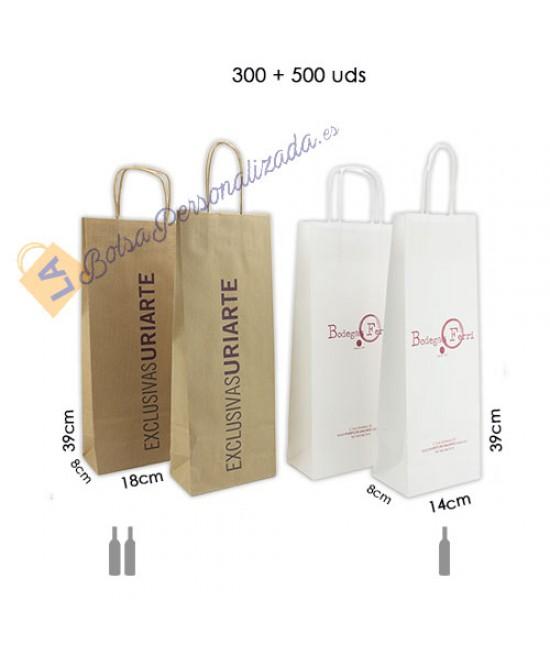 Bolsas botellas de vino personalizadas Pack080