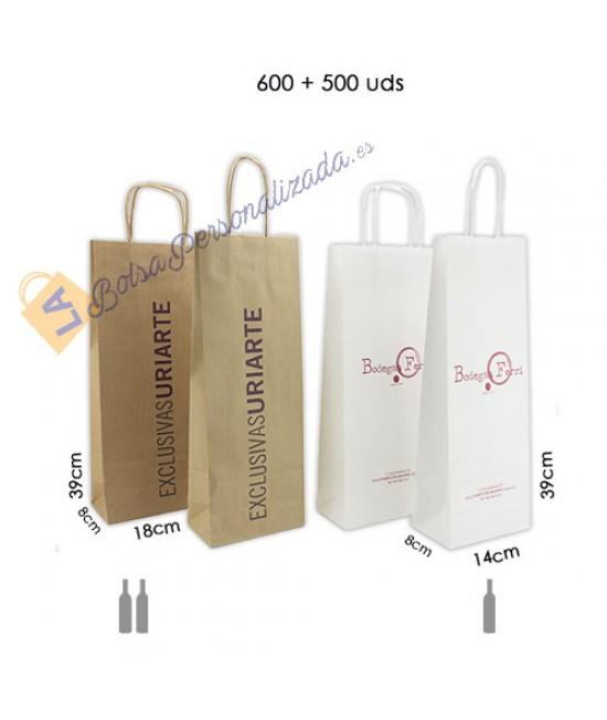 Bolsas botellas de vino personalizadas Pack081